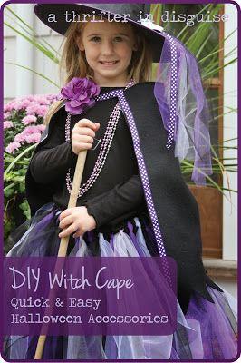 Halloween Witch Costume Part 2 Fleece Cape Halloween Costumes For