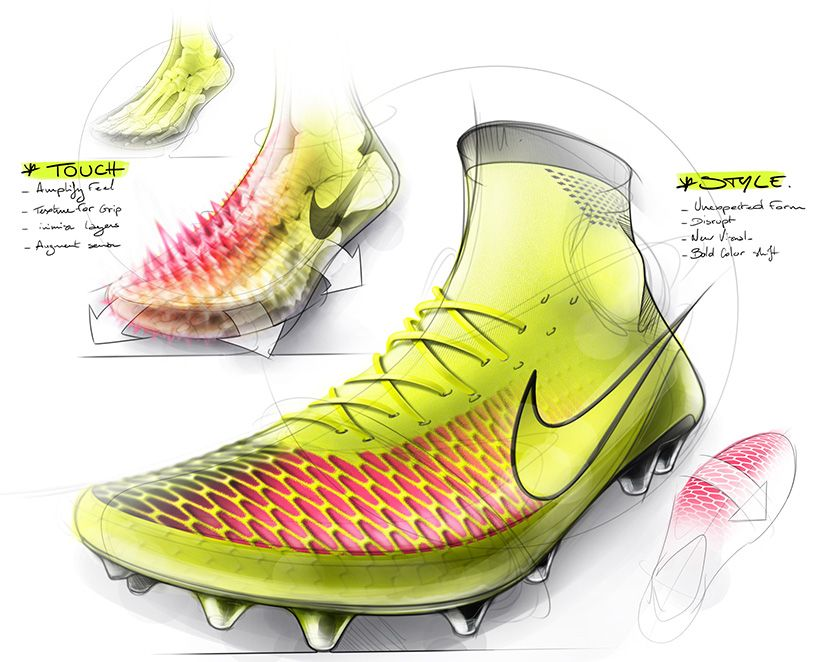 Nike Introduces Magista A Flyknit Football Boot That Fits Like Socks Shoe Design Sketches Sport Shoes Design Sneakers Sketch