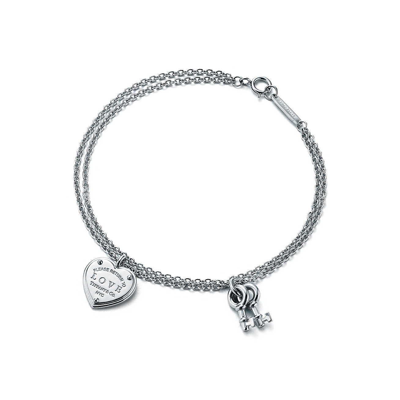 A Girl Can Always Dream Hehe Return To Tiffany® Love Heart Tag Key Bracelet  In
