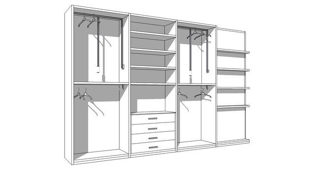 Large preview of 3D Model of Silenia Wardrobe Quần áo