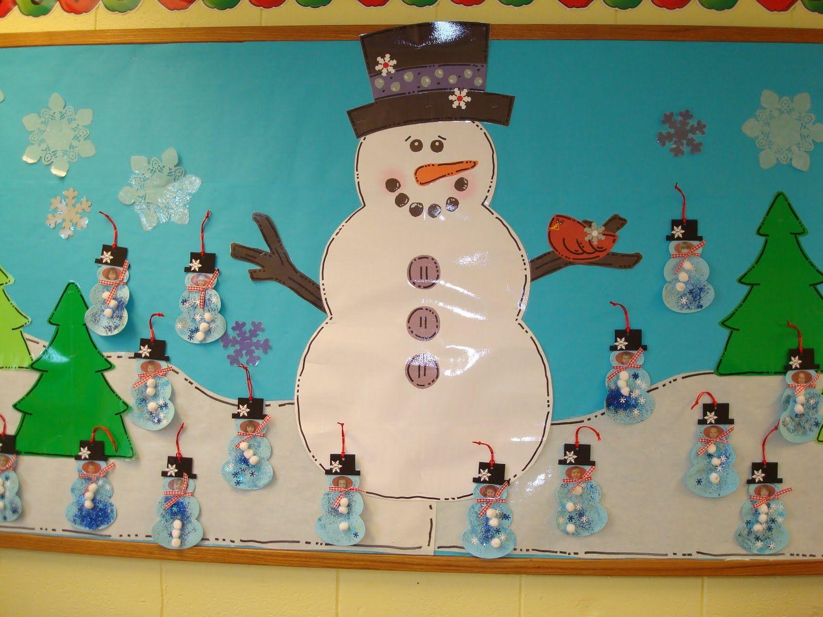 Winter bulletin boards ideas pinterest - Trinity Preschool Mp Snowman And Christmas Bulletin Board At Trinity Preschool