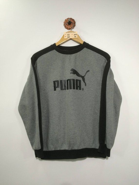673425d232b05 Vintage 1990 PUMA Jumper Small Ladies Puma Sportwear Big Logo Spell ...