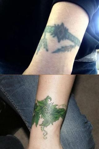 10 Amazing Wrist Tattoo Cover-Ups: Before & After #t4aw #blog #cover #up #tattoo #before #after #wrist