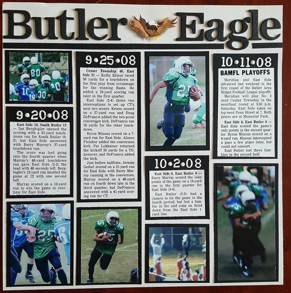 Scrapbook ideas newspaper articles - Football Newspaper Clippings Barry