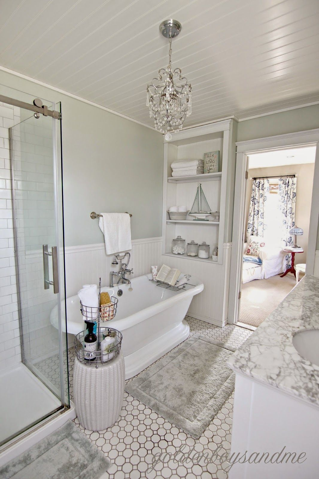 Revisiting the Master Bathroom & Our 2 Year Blogiversary | Pedestal ...