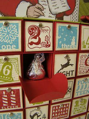 Advent calendar 3D paper craft projects Pinterest Advent