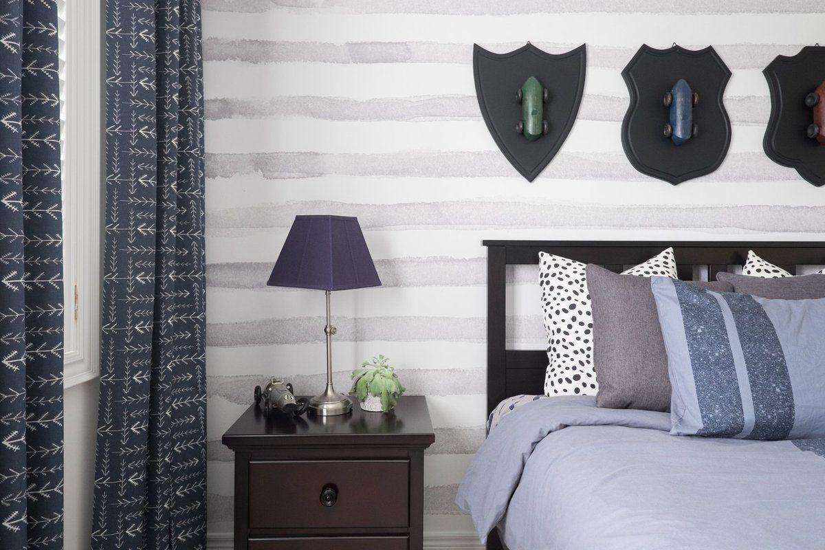 Watercolor Horizontal Stripe Wallpaper Striped wallpaper