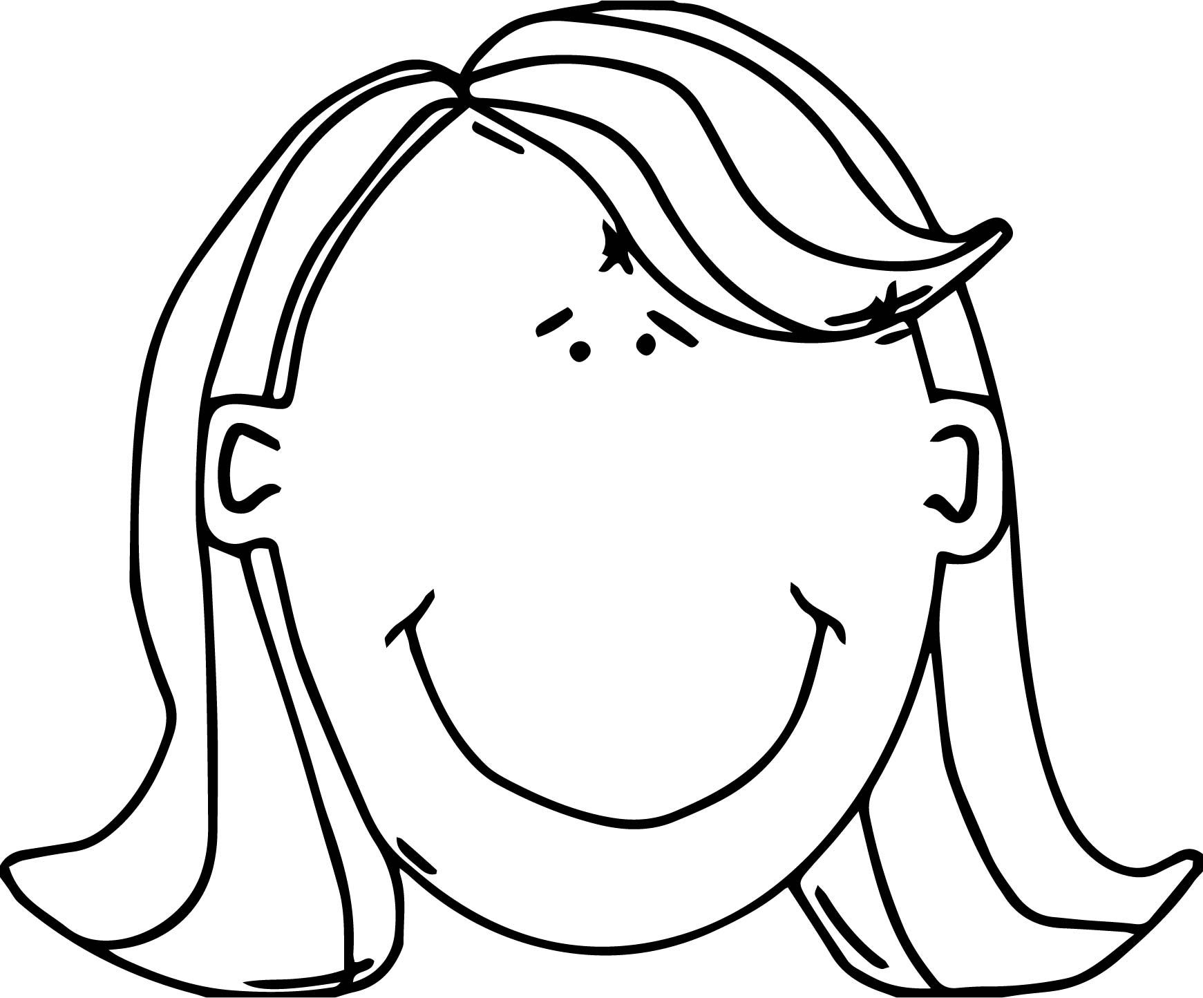 Nice Womans Face With Red Hair Free In Open Office Coloring Page