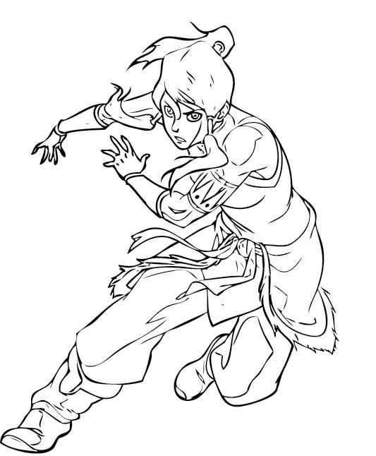 The Legend Of Korra In Action Coloring Pages | Muñecas de papel y ...