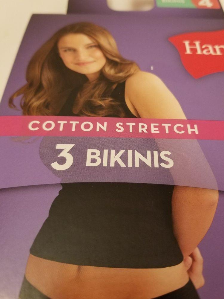 9a5b7a427737 Hanes Women's Cotton Stretch Bikini with ComfortSoft Waistband 3-Pack Size  4 XS #Hanes #Bikinis #Everyday