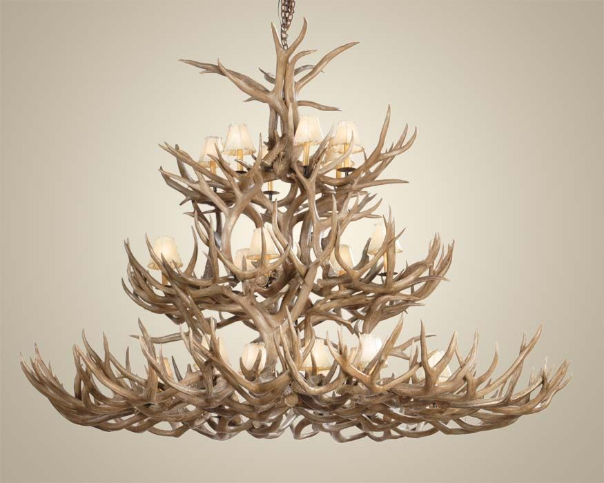 Large 15 Light Deer Antler Chandelier By Ohdeerboutique On