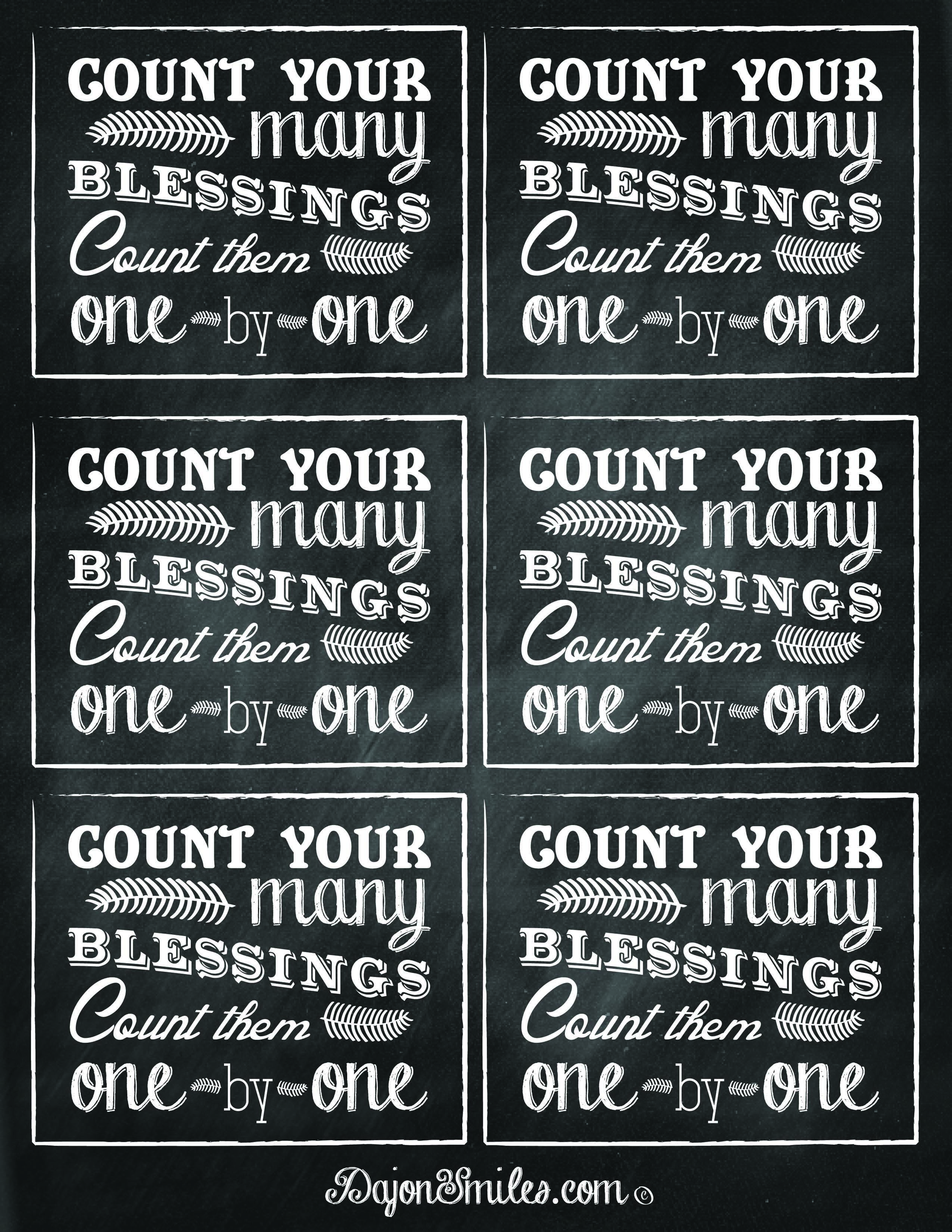 Free Printables To Add To Blessing Jar Ts Count Your