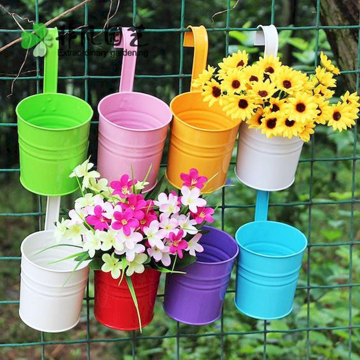 80 Awesome Spring Garden Ideas For Front Yard And Backyard Jardin De Printemps Pots De Fleurs Suspendus Pot De Fleurs