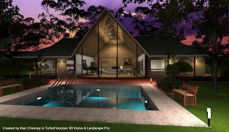 Created in turbofloorplan 3d home landscape pro by allan for Architect 3d home landscape design