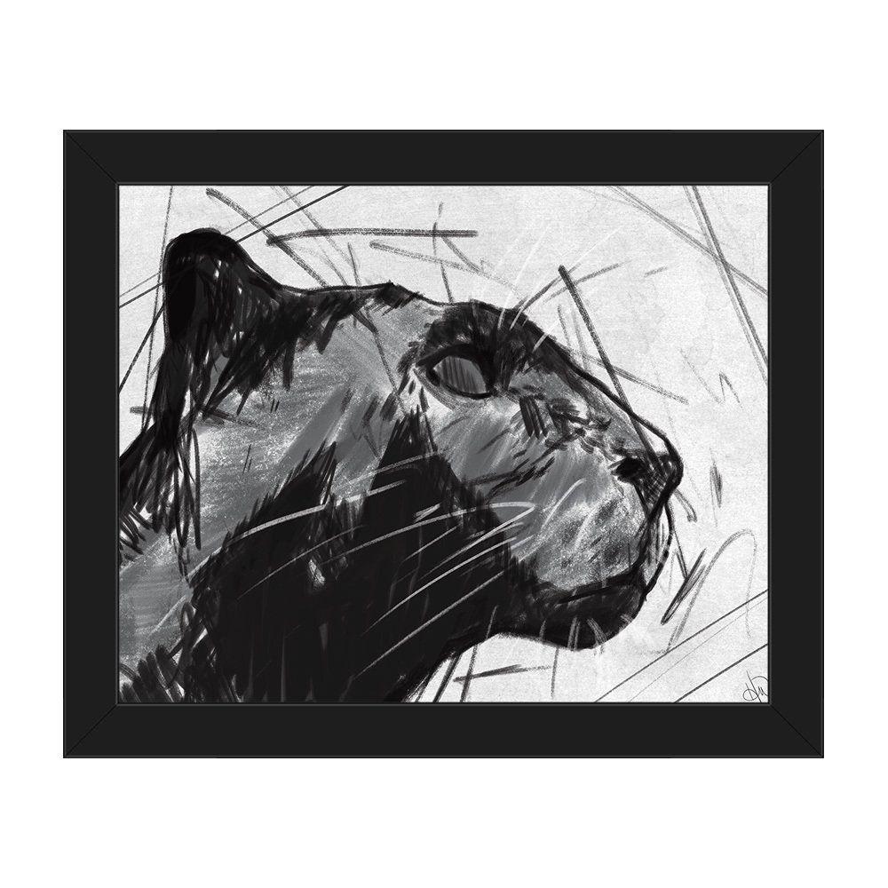Jaguar Growling Panther Canvas Art Print By: Horizon Panther Bust Canvas Framed Wall Art