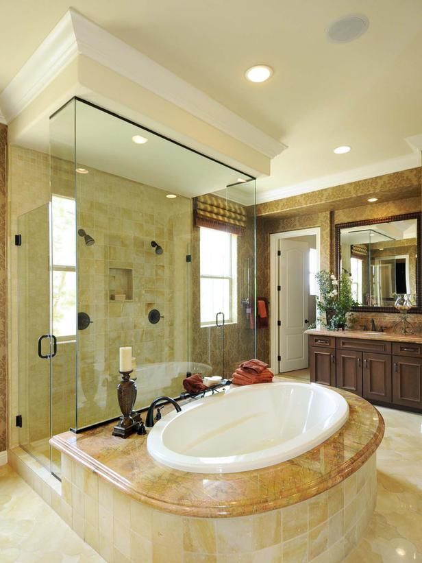 Bathroom Renovations Kingston Ontario: Like The Idea Of A Soaking Tub In Front Of A Shower. Gives