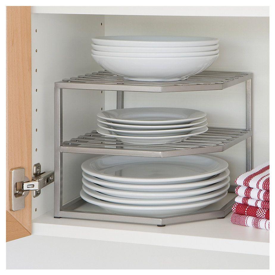 Genérico Repisa esquinero interior para mueble de cocina 1,5x25,5x26 ...