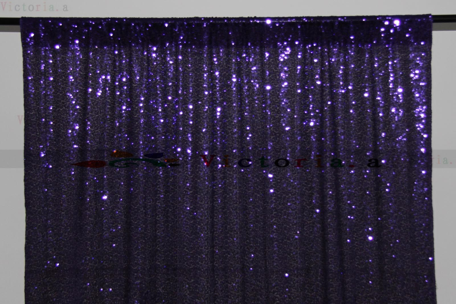 3FT*8FT Cadbury Purple SEQUIN PHOTO Backdrop, Photo Booth