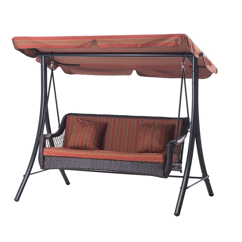 Sunjoy Borgne 3 Seat Swing Sam S Club Wicker Porch 400 x 300