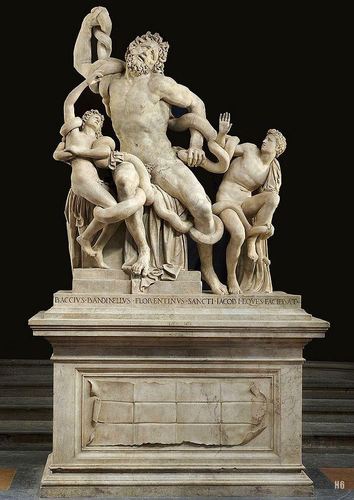 Baccio Bandinelli - Laocoonte, 1525 copia 1:1 dell'originale greco eseguito tra I secolo a.C. e I secolo d.C. | Renaissance art, Art, Sculpture art