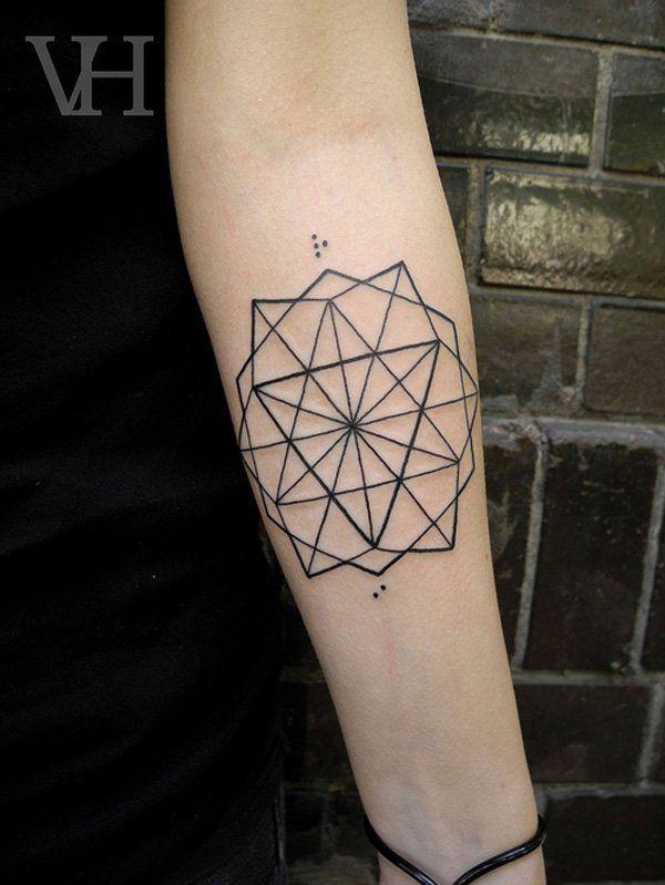40 Intricate Geometric Tattoo Ideas | Cuded