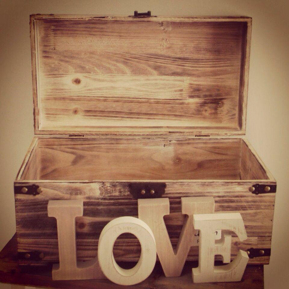 wishing well wedding Wooden Rustic vintage beach wedding wish well treasure chest