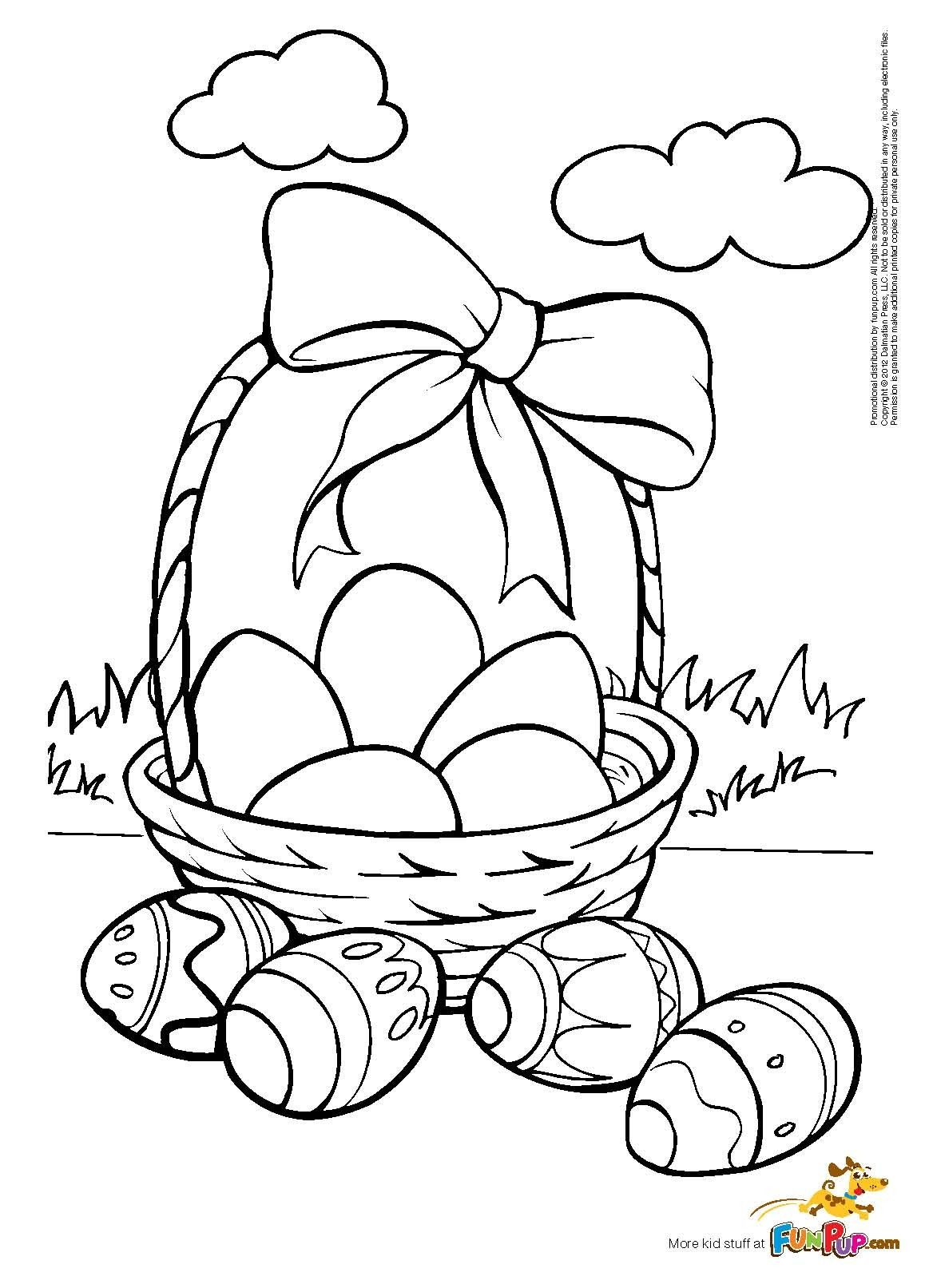 Easter Eggs Coloring Page Free