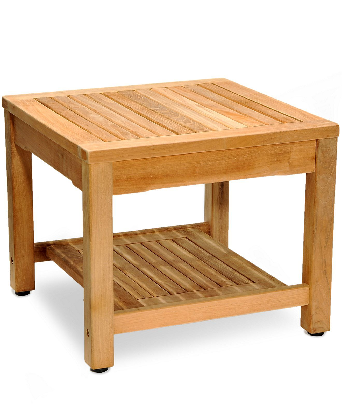 Bristol Teak Patio Furniture Outdoor Side Table Macy S