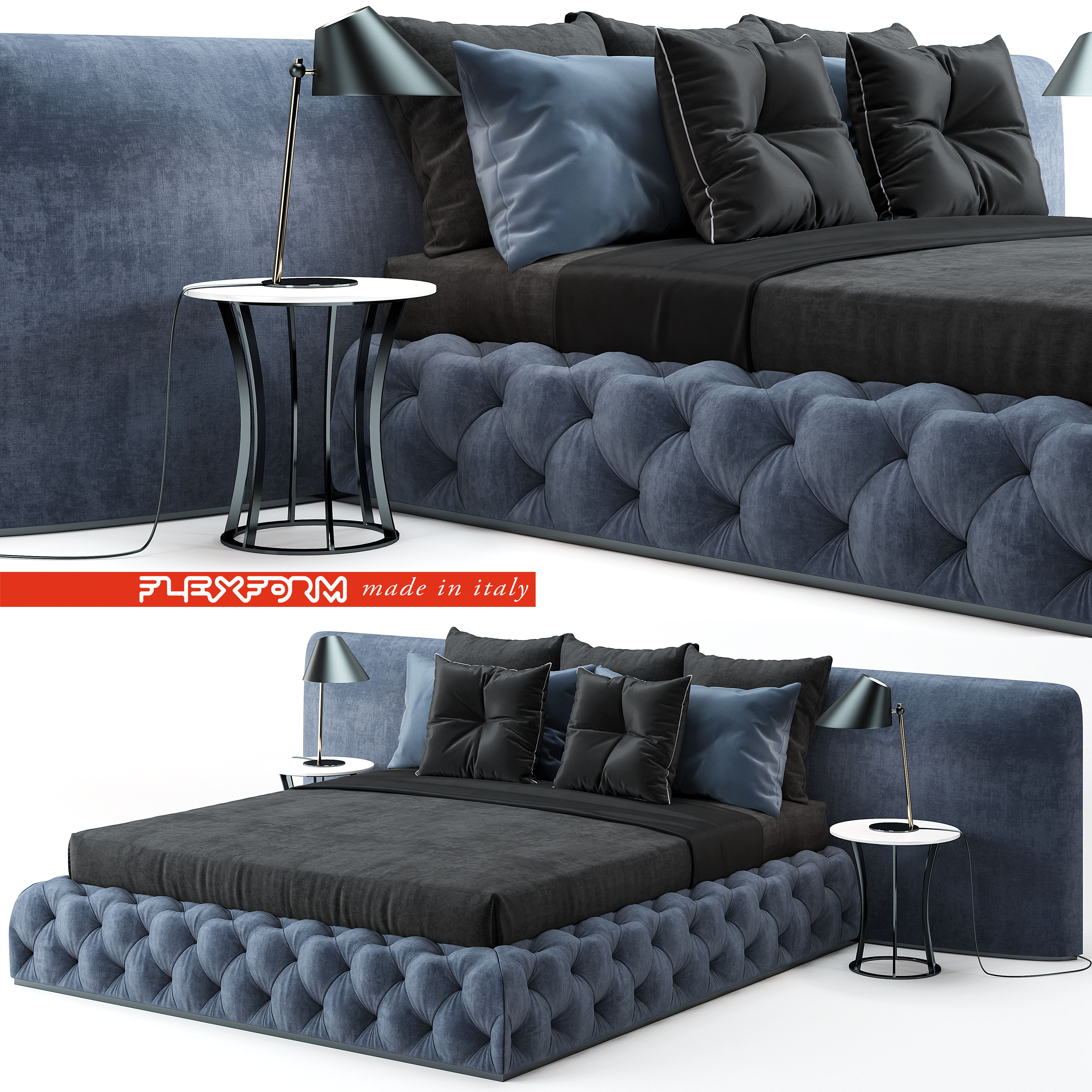 3D Flexform Mood Leonardo Bed Model 3D Model