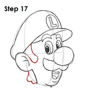 How To Draw Luigi Canvas Drawings Art Disney Drawings
