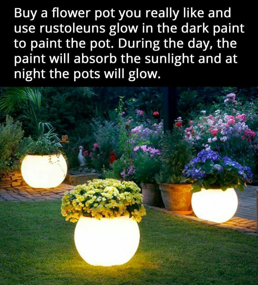Glow In The Dark Flower Pots Home Gardening Pinterest Dark
