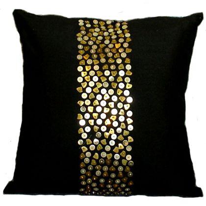 Cojines Con Aplicaciones.Cojines Decorativos Con Aplicaciones Doradas Cojines Diy Cushion