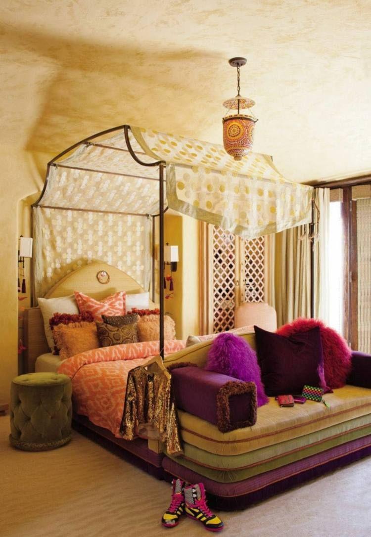 Lit Baldaquin Pour Une Chambre De Deco Romantique Moderne Stylish Kids Bedroom Moroccan Bedroom Bedroom Design