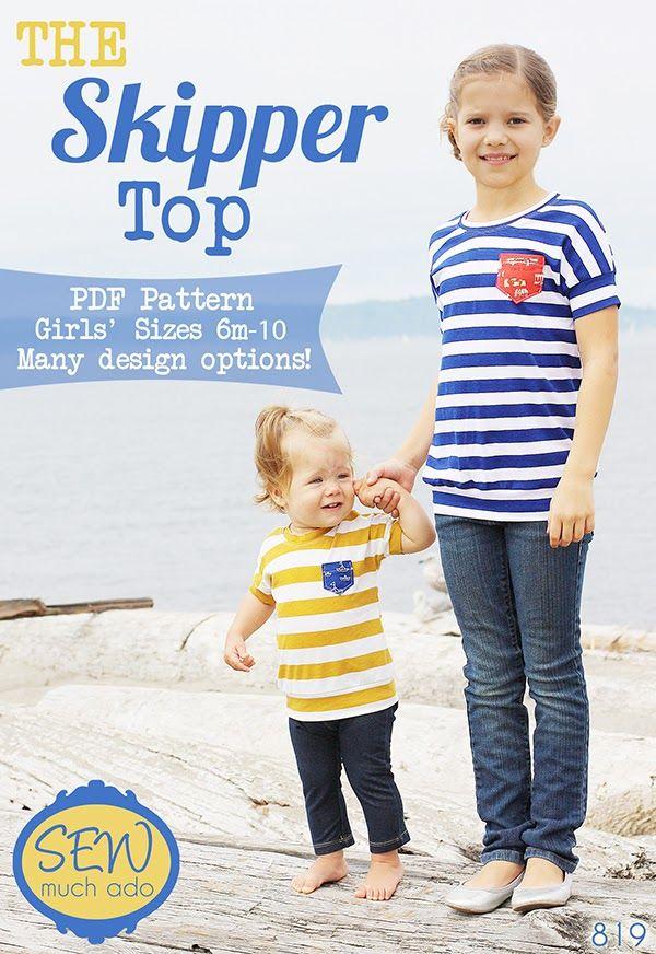 The Skipper Top PDF Pattern - Sizes 6m-10! | sewing | Pinterest ...