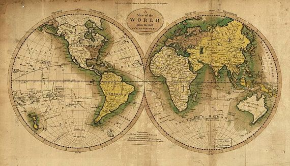 Antique world maps, Old World Map illustration Digital Image ...