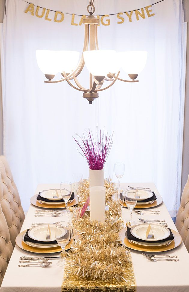 DIY: New Year\'s Eve Tablescape | Nye, Holidays and Celebrations