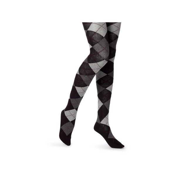 53a29f1c62829 grey argyle sweater tights ($15) ❤ liked on Polyvore featuring intimates,  hosiery, tights, grey stockings, gray pantyhose, gray tights, grey tights  and ...