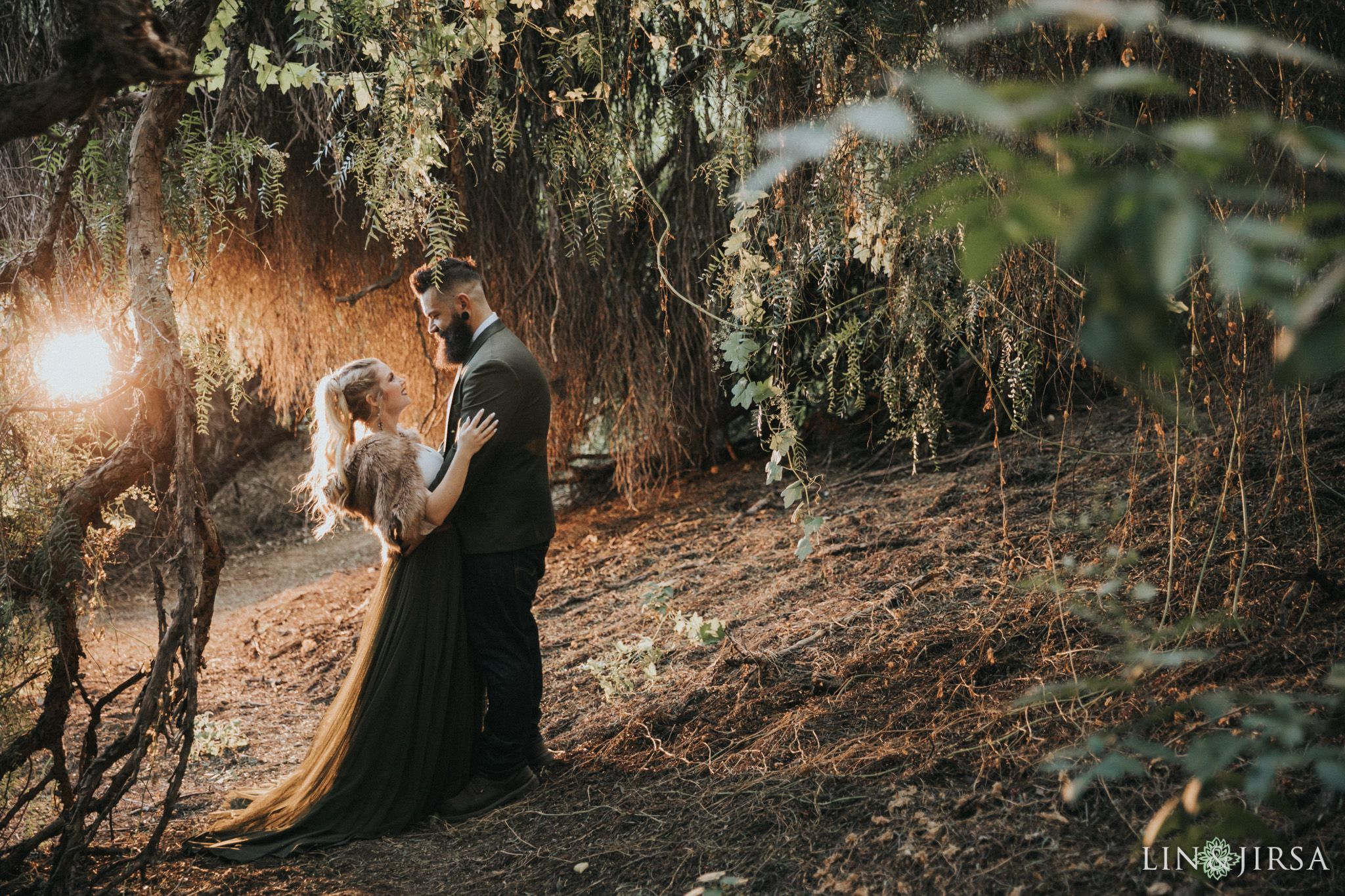 Oak canyon nature center rustic engagement in 2020