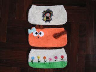 Sayjai amigurumi crochet patterns ~ K and J Dolls / K and J Publishing: Free cat schoolbag crochet pattern
