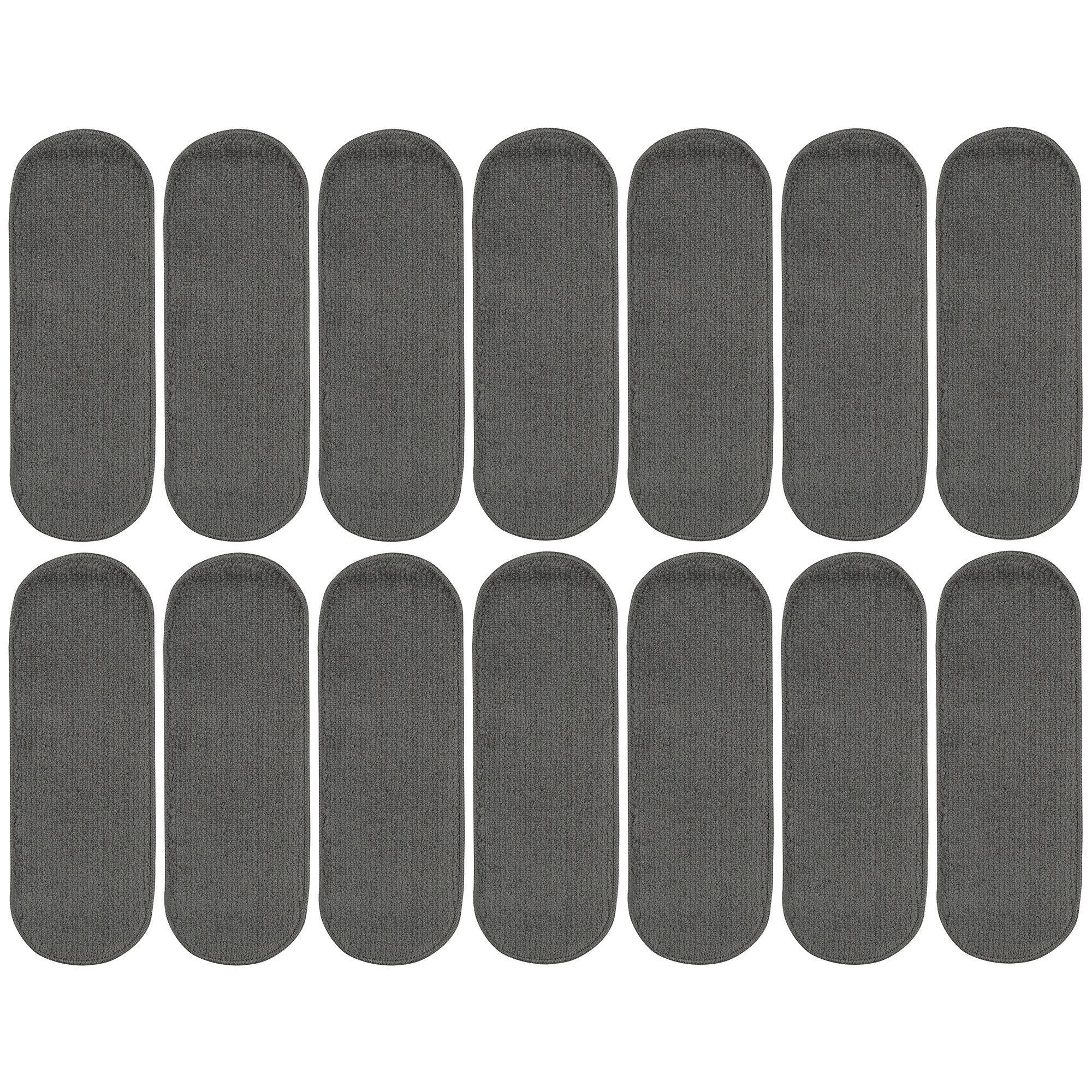 Best Softy Solid Design Non Slip Oval Stair Treads Set Of 14 400 x 300