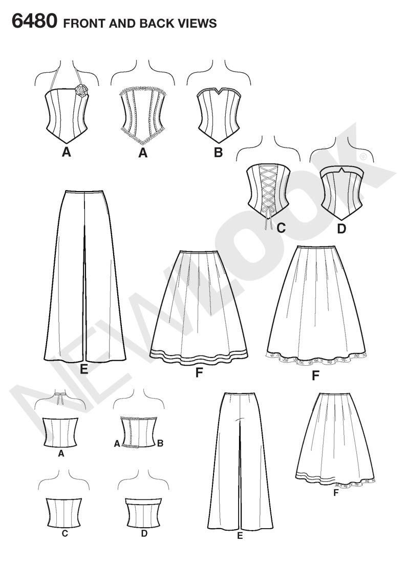Corset Sewing Pattern Custom Inspiration Design