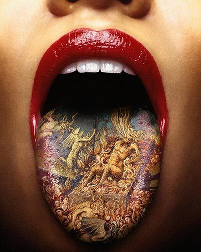 tongue tattoo