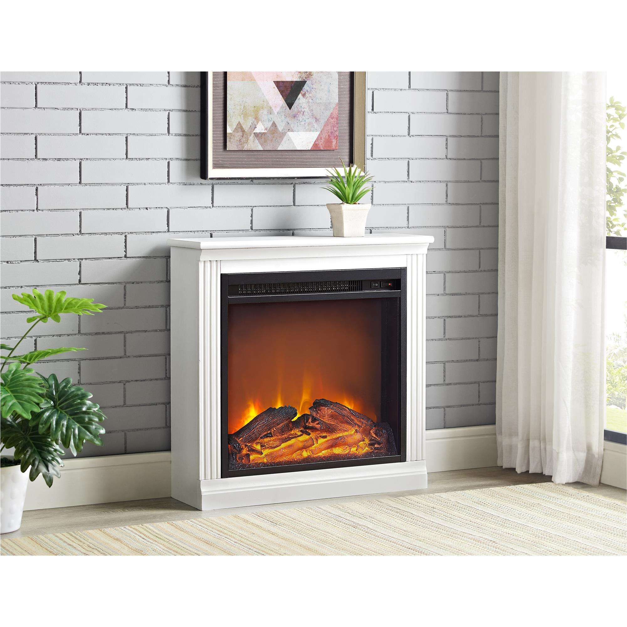 lowest price on altra furniture bruxton simple fireplace white