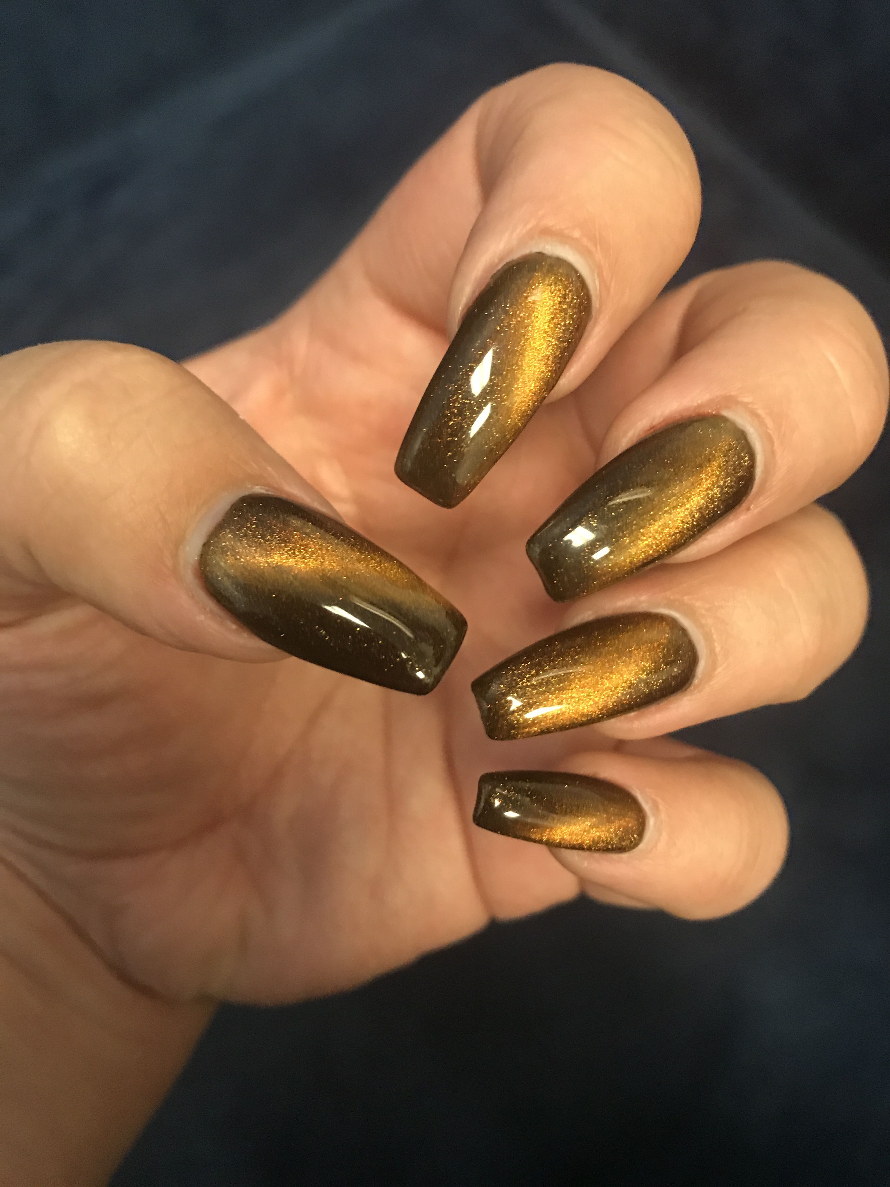 Cats eye nails... i had this done for our trip to ...