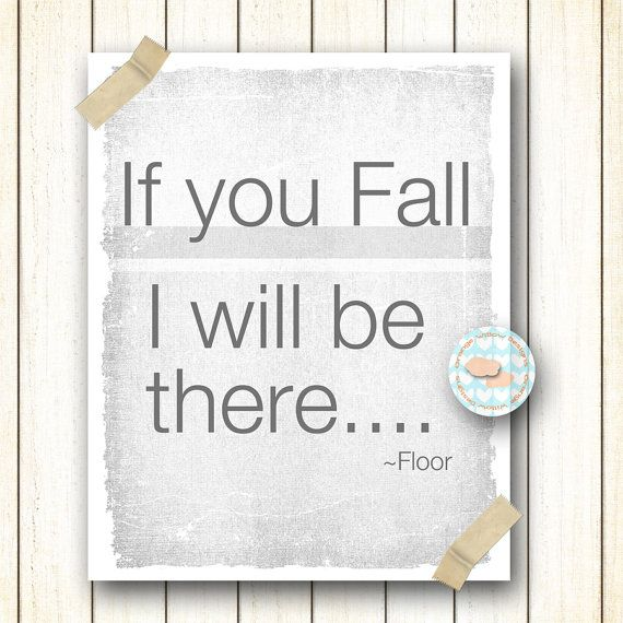 If you Fall I will be there Floor 118AOWD by OrangeWillowDesigns
