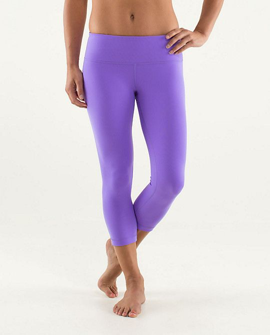 b87c4b4ad  Lululemon Wunder Under Crop. I really want these but am unsure about  wearing purple leggings to run. Decisions are hard.