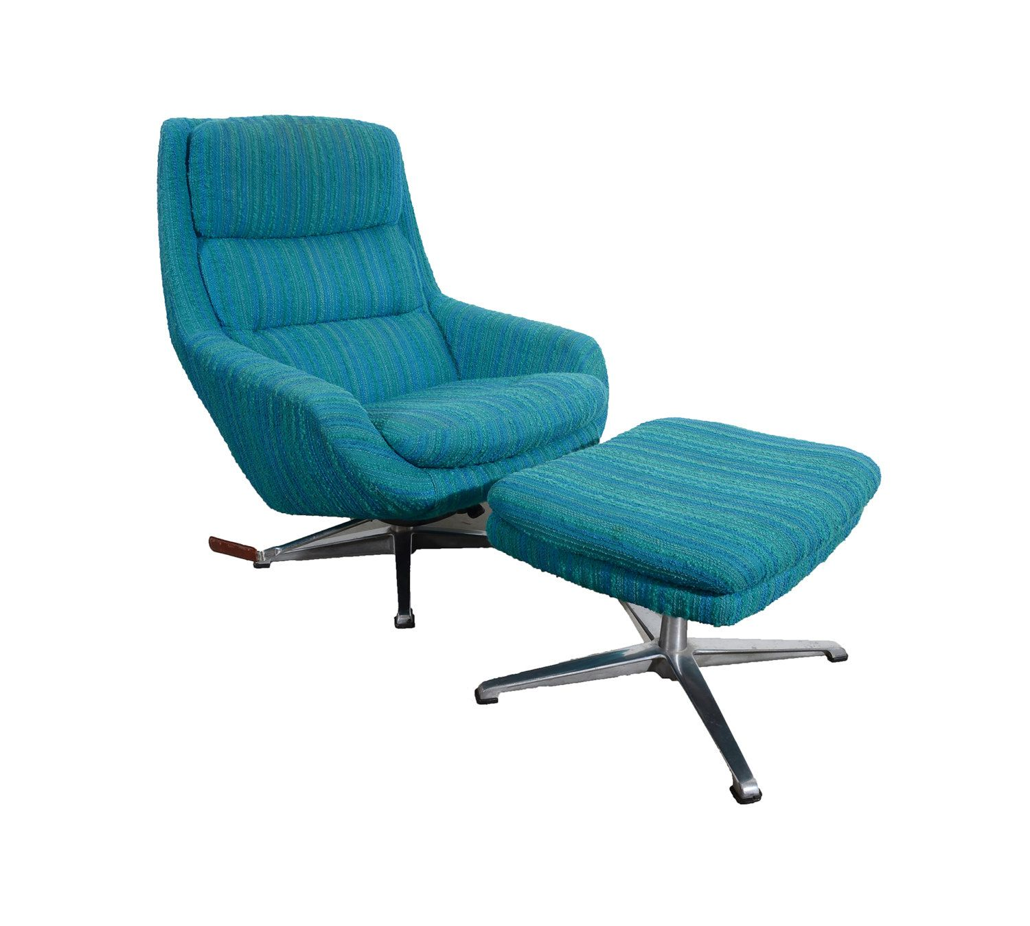 Overman Lounge Chair And Ottoman Recliner Sweden Danish Modern Mcm