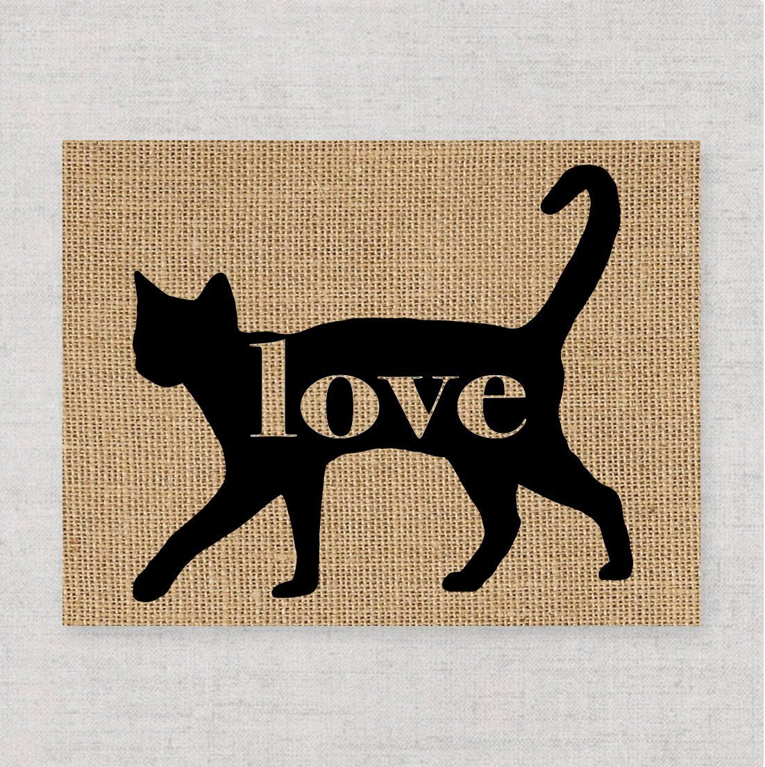 Russian Blue Cat Love: An Unframed 8x10 Cat Breed Wall Art Print on ...