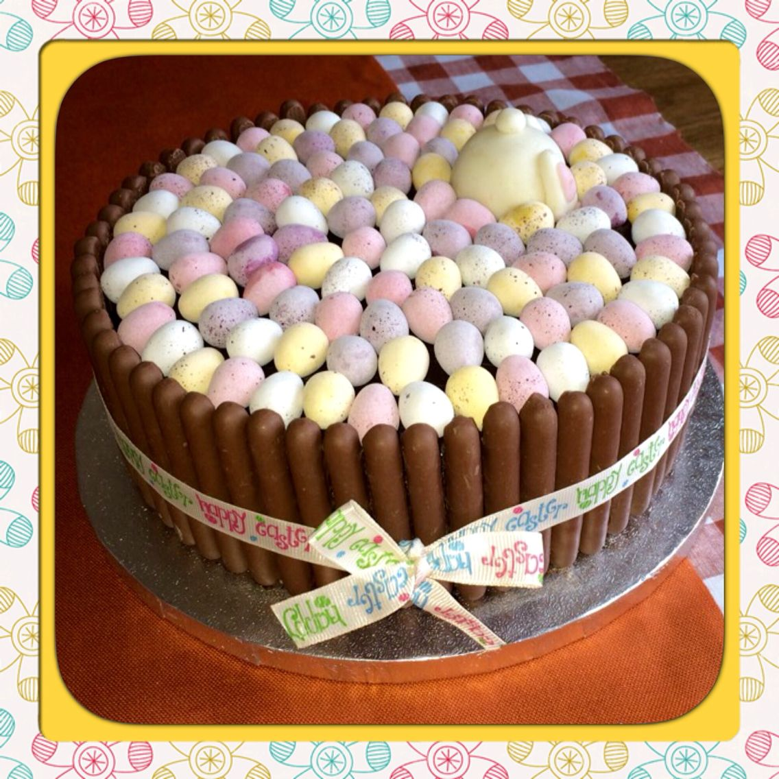 Easter Cake. Belgian chocolate biscuit cake covered in chocolate ...