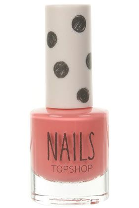 Topshop Nail Polish in Pink Flamingo, love this colour #topshoppromqueen